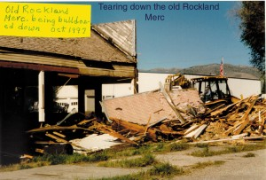 Tearing Down the Rockland Mercantile. October 1997.